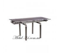 Стол В 179-4 стекло чёрное+хром АМФ