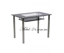 Стол D-102-S кухонный метал+стекло
