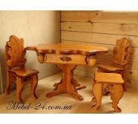 Стол и стулья дерево на заказ