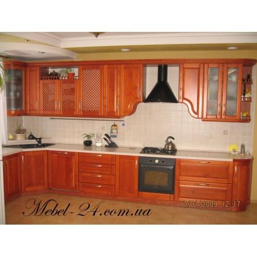 Деревянная кухня угловая