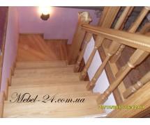 Деревянная лестница на заказ из бука