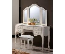 Будуарный стол с зеркалом и пуфом Богемия