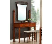 Будуарный столик с зеркалом и пуфом Бавария