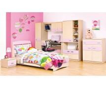 Детская Терри розовая/клён