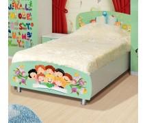 Кровать 1сп Алфавит