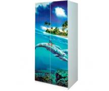 Шкаф 2Д мульти Дельфины
