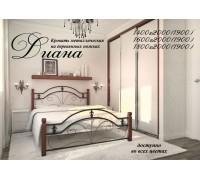 Кровать Диана с деревянными ножками