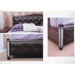 Кровать Прованс патина серебро