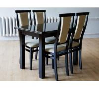 Стол Петрос и стулья Чумак венге