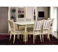 Стол Венеция и стулья Сицилия патина