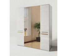 Шкаф 4Д Бианко с зеркалом