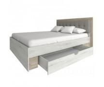 Кровать Милана Дуб крафт серый