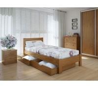 Кровать односпальная Эко Плюс с ящиками