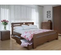 Кровать двуспальная Кантри Плюс с ящиками