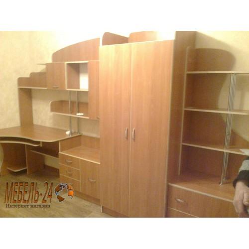 Детская комната Д 14 фото (Вишня+кромка дуб молочный)