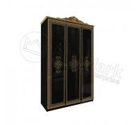 Шкаф 3Д Дженифер Black-Gold