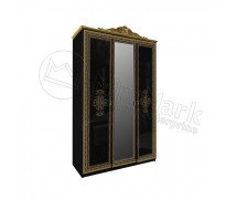 Шкаф 3Д Дженифер с зеркалом Black-Gold