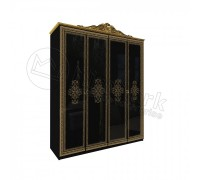 Шкаф 4Д Дженифер Black-Gold