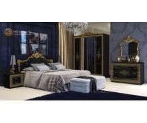 Спальня Дженифер Black-Gold набор со шкафом 4Д