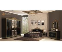 Спальня Дженифер Black-Gold набор со шкафом 6Д