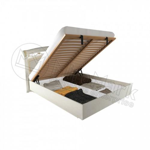 Кровать 1,6 Rosella твёрдая спинка с подъёмником
