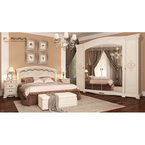 Спальня Rosella Радика Беж со шкафом 6Д Miromark