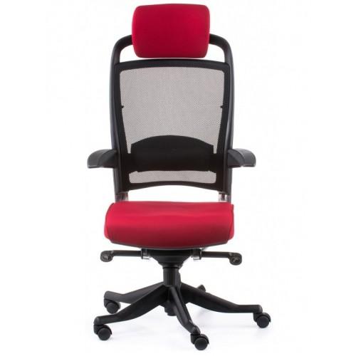 Кресло Special4You FULKRUM DEEPRED FABRIC BLACK MESH