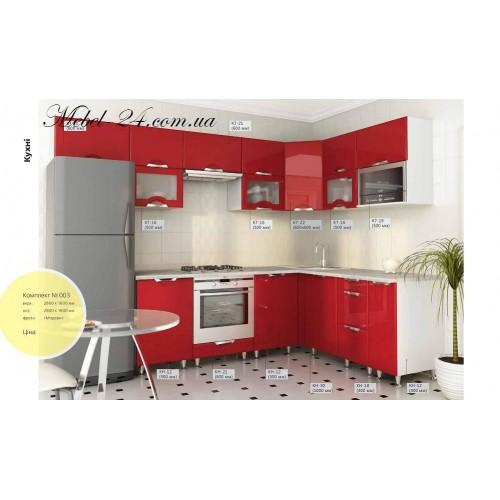 Кухня угловая набор 003
