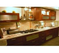 Кухня прямая AGT (вишня) фурнитура Linken