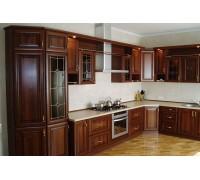 Кухня угловая фасад дерево -19 мм, фурнитура hettich