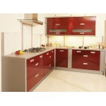 Кухня угловая мдф-19 мм, фурнитура Blum, столешница 38
