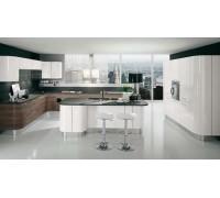 Кухня угловая МДФ-19 мм крашенный, фурнитура Blum,столешница ис-ный камень