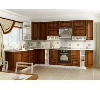 Кухня угловая МДФ, эконом стандарт-3 (патина)