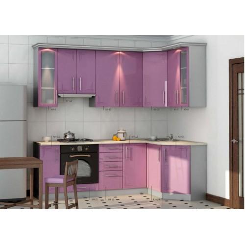 Кухня угловая МДФ, эконом стандарт-15