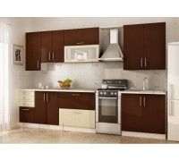 Кухня прямая МДФ, эконом стандарт-17