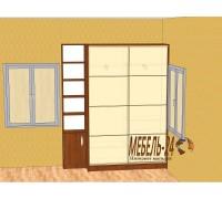 Шкаф купе с крашенными фасадами