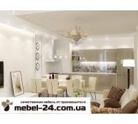 Кухня мдф угловая, фасады 19мм крашенные фурнитура Blum