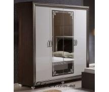 Шкаф 4Д Элизабет белая
