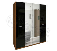 Шкаф 4д Белла с зеркалом