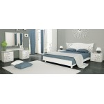 Спальня Богема глянец белый набор Miromark