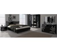 Спальня Богема глянец черный набор