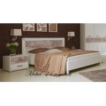 Кровать 2сп с профилем Флора Миро-марк
