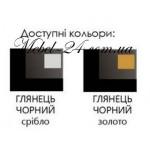 Спальня Реджина BLACK- SILVER Глянец черный