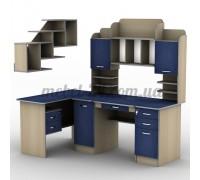 Стол компьютерный наборной СУ-13,СП-8,Т-2, полка книжная ПУ-23