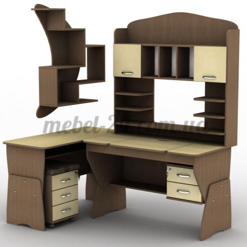 Стол компьютерный наборной СУ-22,СП-13,ТКМ-3, полка книжная ПУ-18