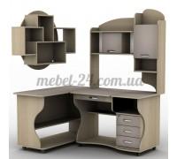 Стол компьютерный наборной СУ-7к, СП-6к, полка книжная ПУ-12