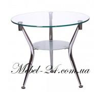 Журнальный столик KSD-CT-007 круглый стекло